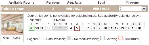 Optional Availability Calendar has been added to the Online Booking module settings